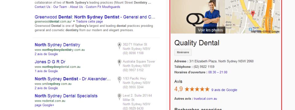 ranking position quality dental